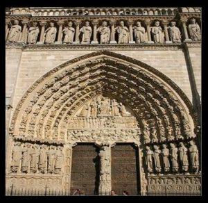Нотр Дам Париж врата
